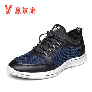 YEARCON 意尔康 8412FX88412W 男士网面跑步鞋 深蓝 42