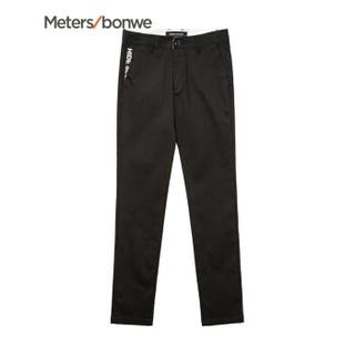 Meters bonwe 美特斯邦威 602733 男士印花休闲裤 影黑 170/76