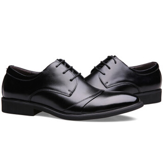 CARTELO 卡帝乐鳄鱼 2119 男士内增高皮鞋 黑色 42