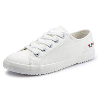 FEI YUE 飞跃 510 男女情侣款小白鞋 (白色、41)