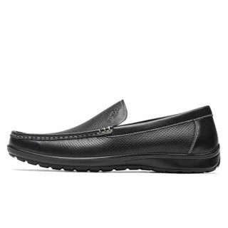 goldlion 金利来 596720087ALD 男士套脚休闲皮鞋 黑色 41