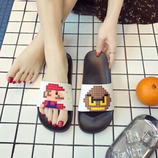 Langsha 浪莎 2116 男女士凉拖鞋 (40-41、白色)