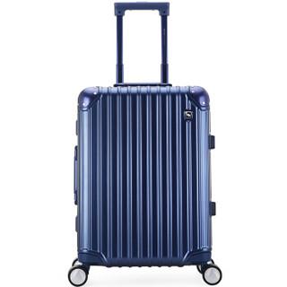 OIWAS 爱华仕 6375 铝框拉杆箱 深蓝色 24寸