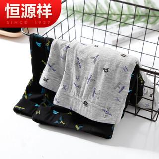 恒源祥 0175 男士中腰平角裤 (4条盒装、170/95、印花1)
