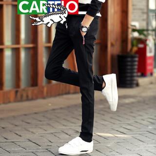 CARTELO 卡帝乐鳄鱼 918 男士运动卫裤 黑色 31