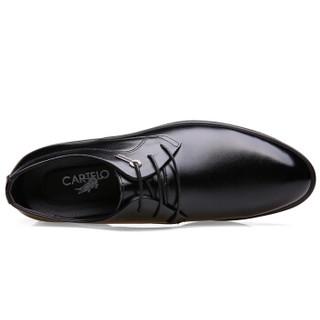CARTELO 卡帝乐鳄鱼 2118 男士内增高皮鞋 黑色 41