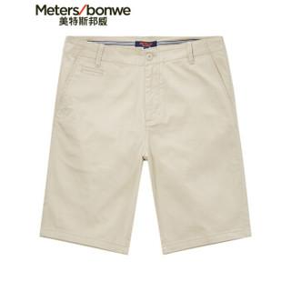 Meters bonwe 美特斯邦威 252334 男士梭织短裤 仙人掌灰 175/84