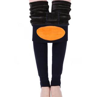 恒源祥 CI130341 女士加厚加绒护腰踩脚裤 黑色 均码