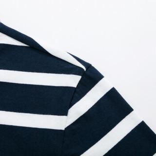 Semir 森马 19038001244 男士短袖T恤 蓝白色调 XXL
