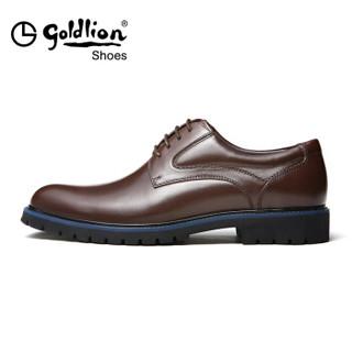 goldlion 金利来 525730144CDA 男士商务正装皮鞋 深棕色 38