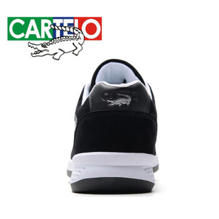 CARTELO 卡帝乐鳄鱼 KDL819 男士户外运动鞋 黑色 40