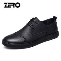 ZERO R81081 男士休闲系带皮鞋 黑色 41