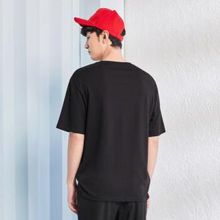 Semir 森马 19038001203 男士短袖T恤 黑色 M
