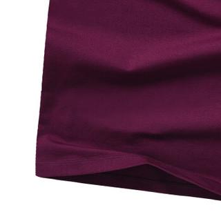 CARTELO 16057KE9518 男士纯色圆领长袖T恤 紫色 M