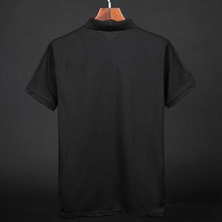 CARTELO 17080KE8008 男士短袖翻领POLO衫 黑色 XL