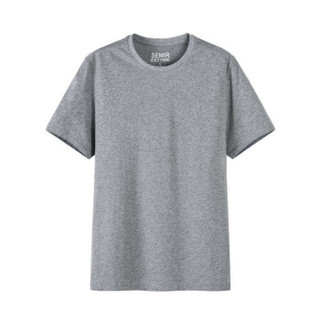 Semir 森马 19018001233 男士圆领短袖T恤 深花灰 XL
