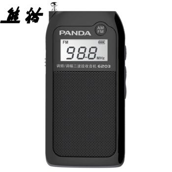 PANDA 熊猫 6203 收音机 (黑色)