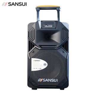 SANSUI 山水 sansui SS1-10 广场舞音响 蓝牙拉杆音箱 户外便携式音响 大功率带无线麦克风扩音器