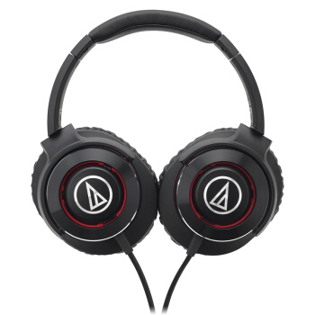 audio-technica 铁三角 WS770iS 头戴式耳机 黑红色