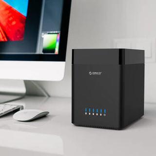 ORICO 奥睿科 DS500U3 3.5英寸硬盘柜 五盘位 黑色 USB3.0