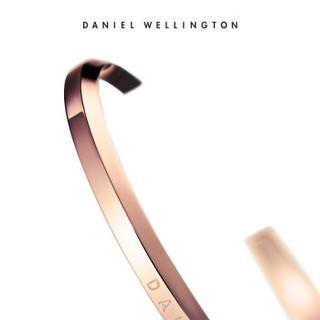 DanielWellington 丹尼尔惠灵顿 DW00400001 手表专属搭配 简约男士金色开口手镯大号 明星同款