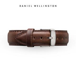 DanielWellington 丹尼尔惠灵顿 0409DW 原装表带20mm皮质银色针扣男款 (适用于40mm表盘系列)