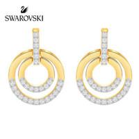 SWAROVSKI 施华洛世奇 Circle 女士双环造型耳环