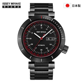 ISSEY MIYAKE 三宅一生 NYAE701Y 男士大表盘全自动机械表 黑盘 钢带 和田智设计