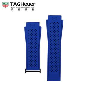 TAG Heuer 泰格豪雅 2FT6118 蓝色橡胶表带适配PVD黑钛合金表扣 45毫米