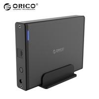 奧睿科(ORICO)移動硬盤底座3.5英寸Type-C硬盤座臺式機械硬盤盒SATA串口SSD固態外置盒子外殼 黑色7688C3