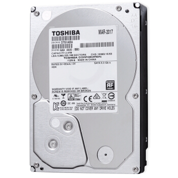 TOSHIBA 东芝 2TB 5700转32M SATA3 监控级硬盘(DT01ABA200V)