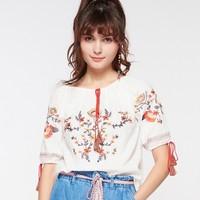 Cache Cache 7406009123 女士刺绣T恤