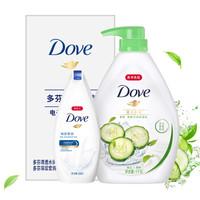 Dove 多芬 沐浴露套装 (黄瓜绿茶1kg+深层营润300g) *6件