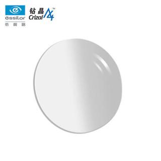 essilor 依视路 1.56非球钻晶A4膜 近视树脂光学眼镜片 1片装(现片)