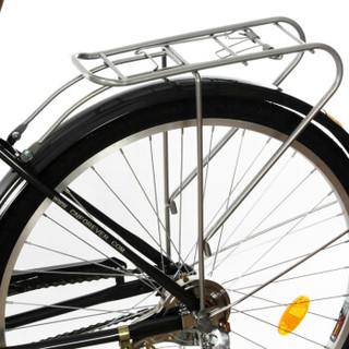 永久(FOREVER)26吋男士轻便复古自行车 玛斯特 黑色(厂家发货)
