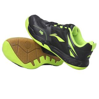 LI-NING 李宁 AYTK055-22 男士羽毛球鞋 黑荧光亮绿 42