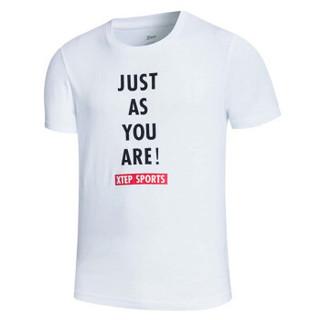 XTEP 特步 882229019101 男子短袖T恤(白色 XL)
