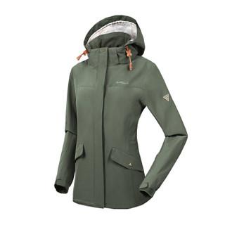 NORTHLAND 诺诗兰 GS062706 女式冲锋衣(橄榄绿色 160/84A)