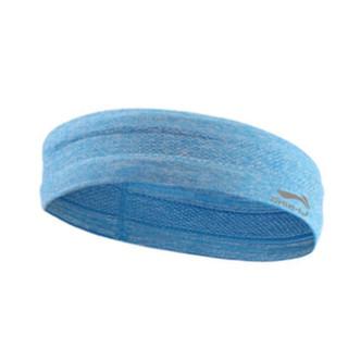 李宁 LI-NING 运动头带 导汗带发带头带 吸汗头巾男女跑步篮球健身瑜伽导汗止汗带蓝色