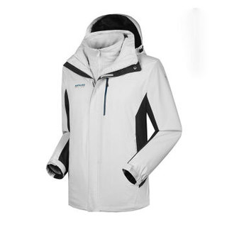 NORTHLAND 诺诗兰 GS055589 男式冲锋衣(冰川灰色/深灰色 180/96A)