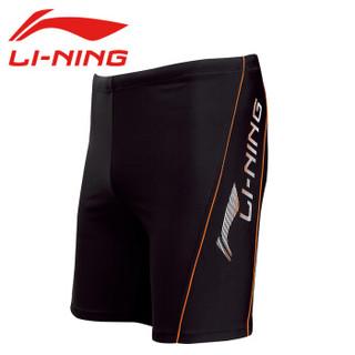 LI-NING 李宁 171 -1 男士五分游泳裤 黑色 L