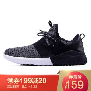361° 361度 671716702-4 男士运动跑步鞋 (黑色/烟灰、43)