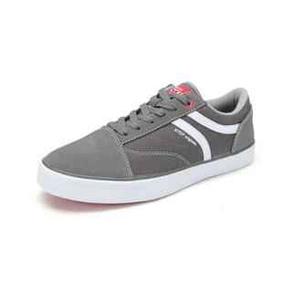 XTEP 特步 984119315238 男士滑板鞋 灰 41码