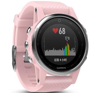 佳明(GARMIN)Fenix5s智能手表 男女跑步运动手表 游泳户外心率腕表 多功能GPS登山表 樱花粉普通版