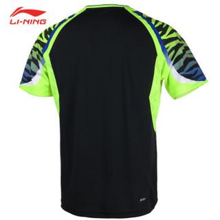 LI-NING 李宁 AATN013 男子羽毛球比赛套装(标准黑 2XL)