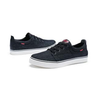 XTEP 特步 983419109598 男子帆布鞋 黑 43码