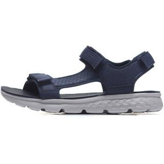 SKECHERS 斯凯奇 54265/CHAR 男款凉鞋(海军蓝色/灰色 42.5)