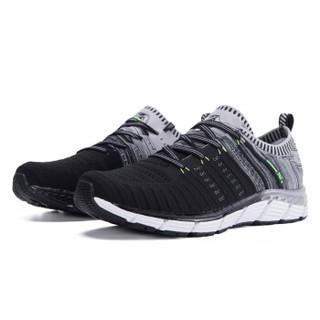 361° 361度 671722214-4 男士跑步鞋 (40、乌黑色/瓦灰)