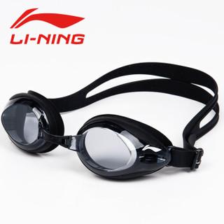 LI-NING 李宁 171TZ 泳裤泳镜泳帽专业套装 黑色 200度 L