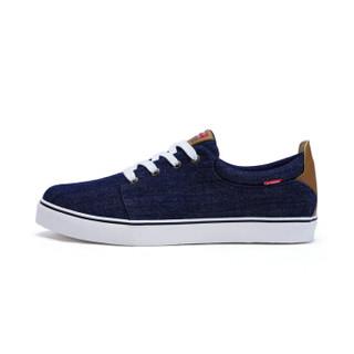 XTEP 特步 983419109598 男子帆布鞋 深兰 41码